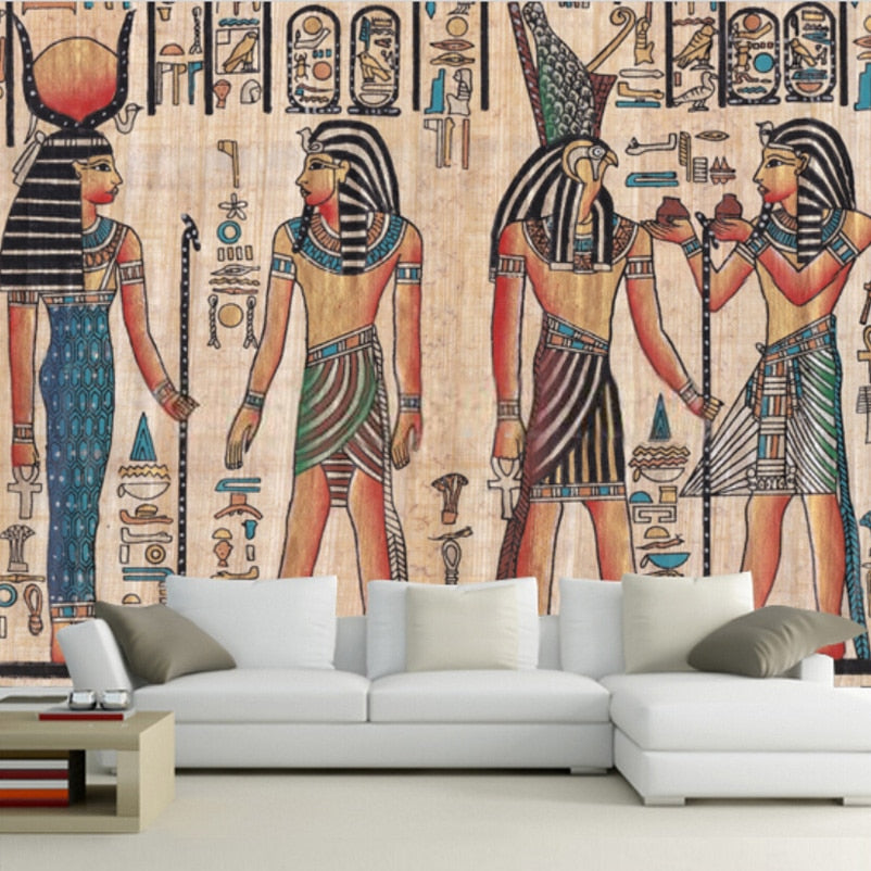 Custom Mural Wallpaper Egypt Retro Pattern