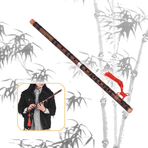 C Key Chinese Traditional Instrument Dizi Bitter Bamboo Flute with Chinese Knot for Beginners