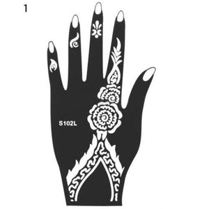 India Henna Temporary Tattoo Stencils Kit for Hand Arm Leg Feet Body Art Decal