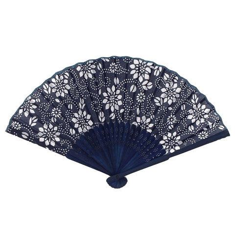 Chinese Bamboo Style Dance Party Wedding Folding Fan Hand Held Gift Flower Fan