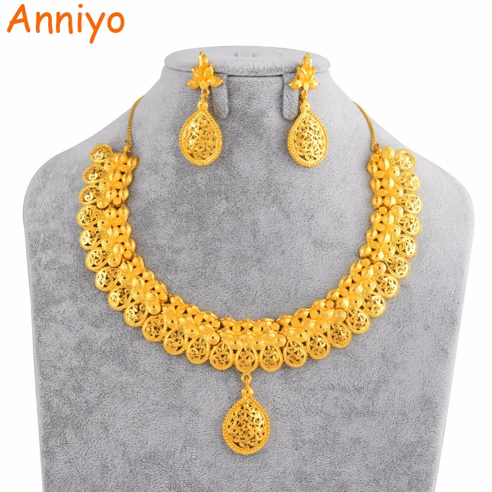 Dubai Bride Wedding Gift Gold Color Jewellery