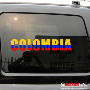 Colombian Map color Decal Sticker Car Vinyl die cut