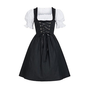 Halloween Costumes Beer Girl Costume Maid Wench Germany Bavarian Short Sleeve Fancy Dress Dirndl For Adult Women Plus size 4XL