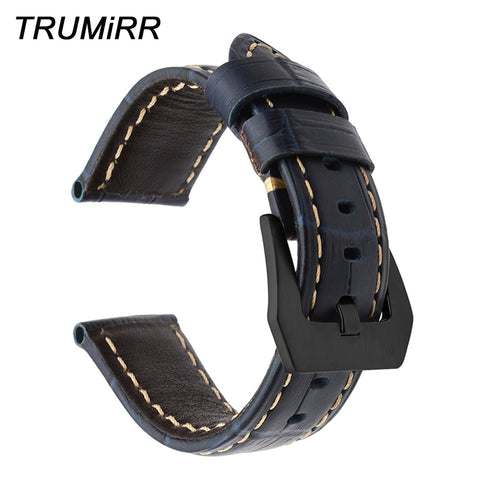 Italy Genuine Calf Leather Watchband 22mm + Tool for Samsung Gear S3 Classic Frontier Croco Watch Band Steel Buckle Wrist Strap