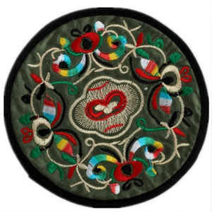Round Coasters For Drinks Placemats Set Chinese Embroidery Large Glass Cup Place Mats Pad Novelty For Tea Coffee Color Random