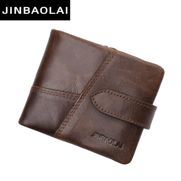 Italy Genuine Leather Men Wallet Male Famous Small Short portomonee