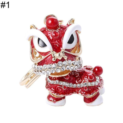 Lion Dance Keychain