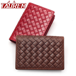 Woven Leather Card Holder