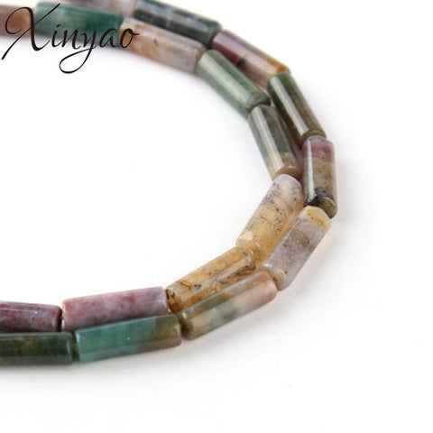 Natural India Agates Beads Stone Tube Spacer Beads For Beads Bracelet Necklace Diy Jewelry Making 4.5*13mm