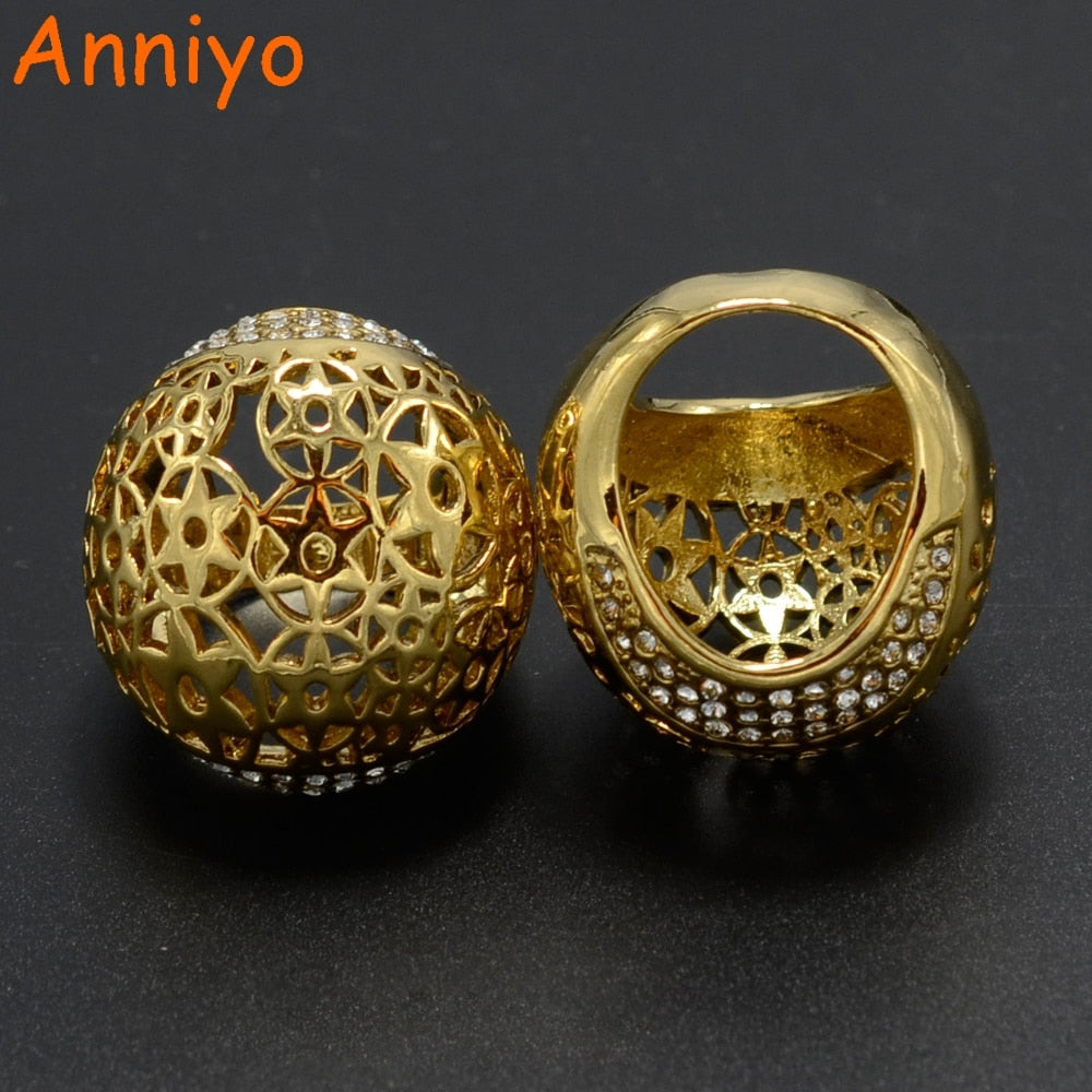 Big Ring Women Gold Color