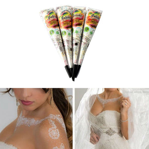 Black Plant Henna Temporary Tattoos Painted Cream India Edition Authentic Original Kashmir Imports Henna Natural