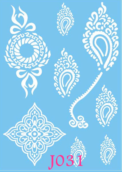 Flash Metallic Temporary Tattoos For Wedding