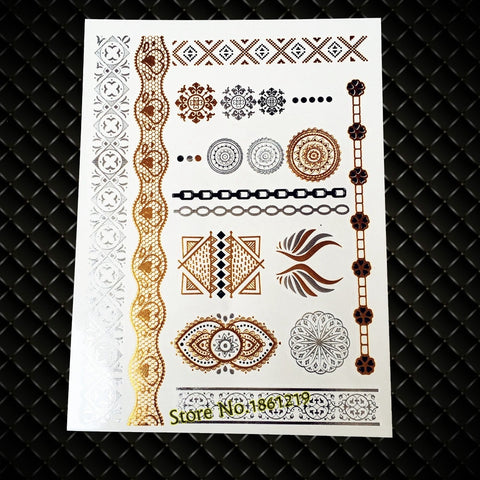India Inspire Totem Temporary Tattoo Sticker Women Body
