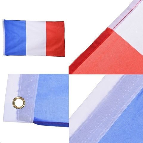 French France Flag 4 polyester banner