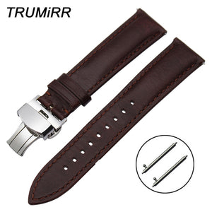 France Genuine Leather Watchband 20mm 22mm for Huawei Watch 2 Sport / Classic Quick Release Band Steel Buckle Wrist Strap Brown