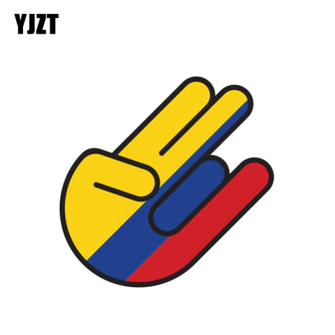 Funny Colombia Flag Car Sticker Shocker Reflective Helmet Decal