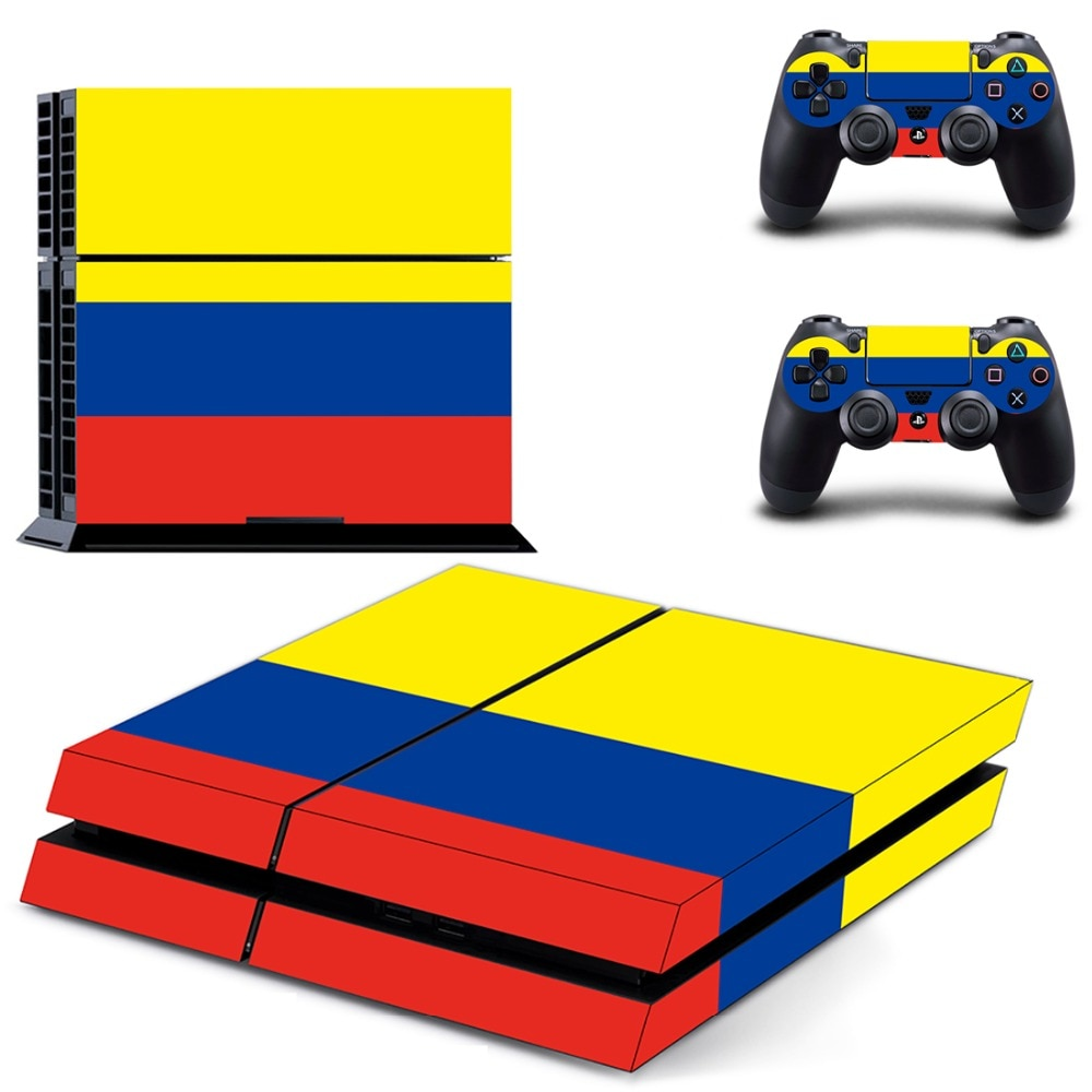 Colombia National Flag PS4 Skin Sticker Decal For Sony PlayStation 4 Console and 2 Controllers PS4 Skin Sticker Vinyl