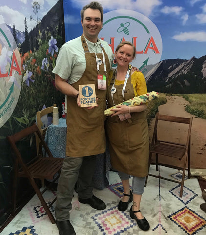 Asa and Tamar McKee, founders of Khala & Company, at their booth at OR