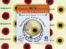 Load image into Gallery viewer, vegan-wax-cloth-wrap-sunflower-2mini-2small-khala-co