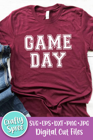 Game Day Sports SVG DXF Sublimation Digital File