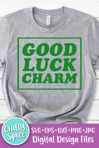 Good Luck Charm St Patrick's Day SVG PNG DXF Sublimation Digital File