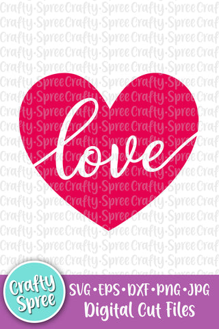 Love Heart Valentine's Heart SVG DXF Sublimation Digital File