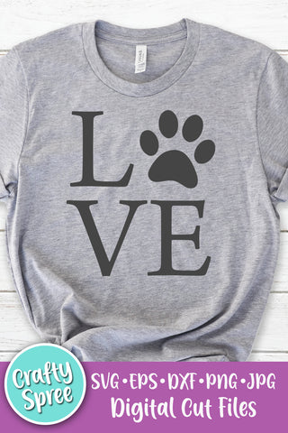 Love Paw Block Stacked SVG DXF PNG Sublimation Digital File