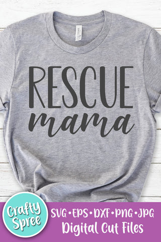 Rescue Mama SVG DXF PNG Sublimation Digital File