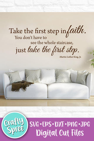 Take The First Step in Faith SVG DXF Sublimation Digital File