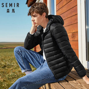 Mens Down Hooded Jacket