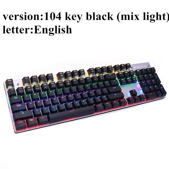 ME TOO  Edition Mechanical Keyboard 87 & 104 keys, Blue, Red, and Black Switch Gaming Keyboard
