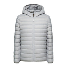Load image into Gallery viewer, Mens Down Hooded Jacket