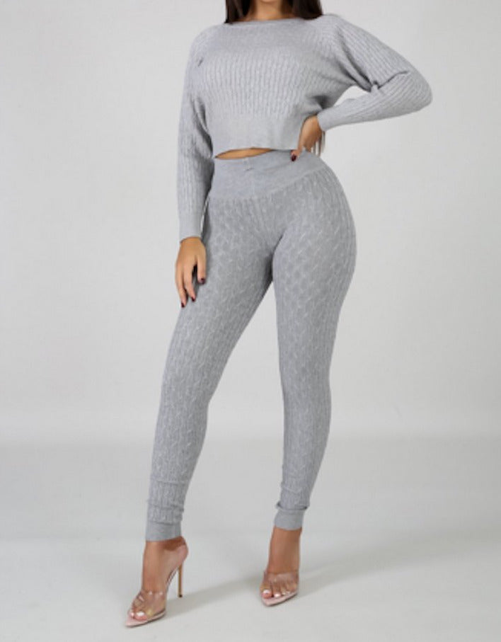 Sweater Weather Set - Grey