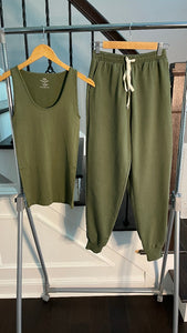 Everyday Summer Light Weight Jogger Set - Olive