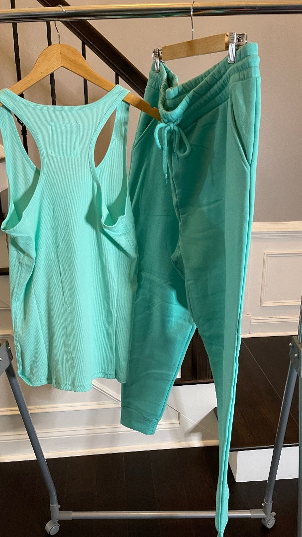 Everyday Jogger Set -Mint Green Plus