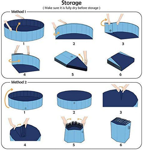 PetKiddies Foldable Portable Pool - How To Fold