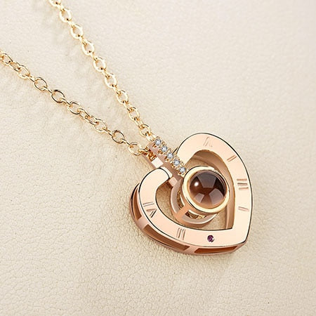 I Love You Memory Projection Necklace