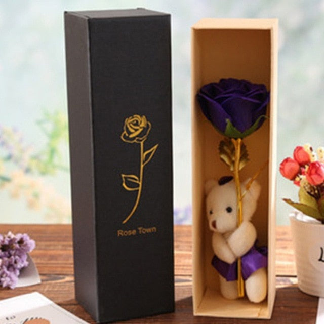 24k Golden Rose - Bear Hug