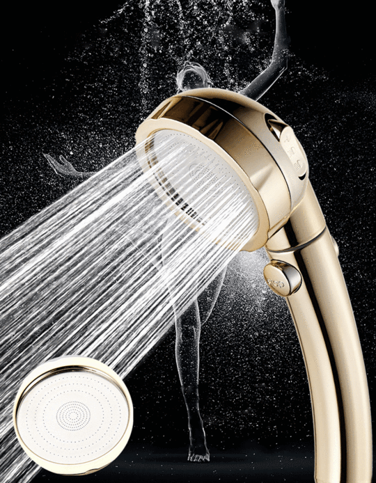3 In 1 High Pressure Water Saving Showerhead