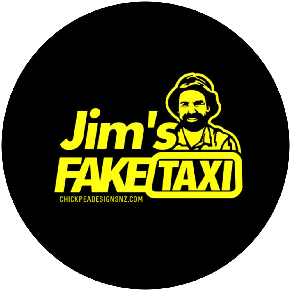 Jim's Fake Taxi Sticker
