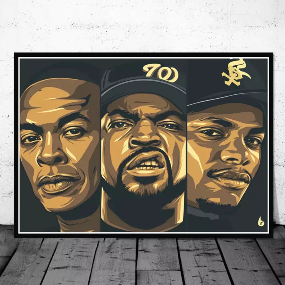 Dr Dre / Ice Cube / Eazy E Poster