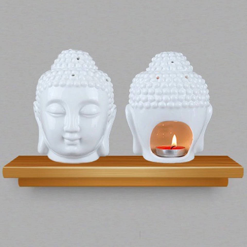 Buddha Wax Burner - White