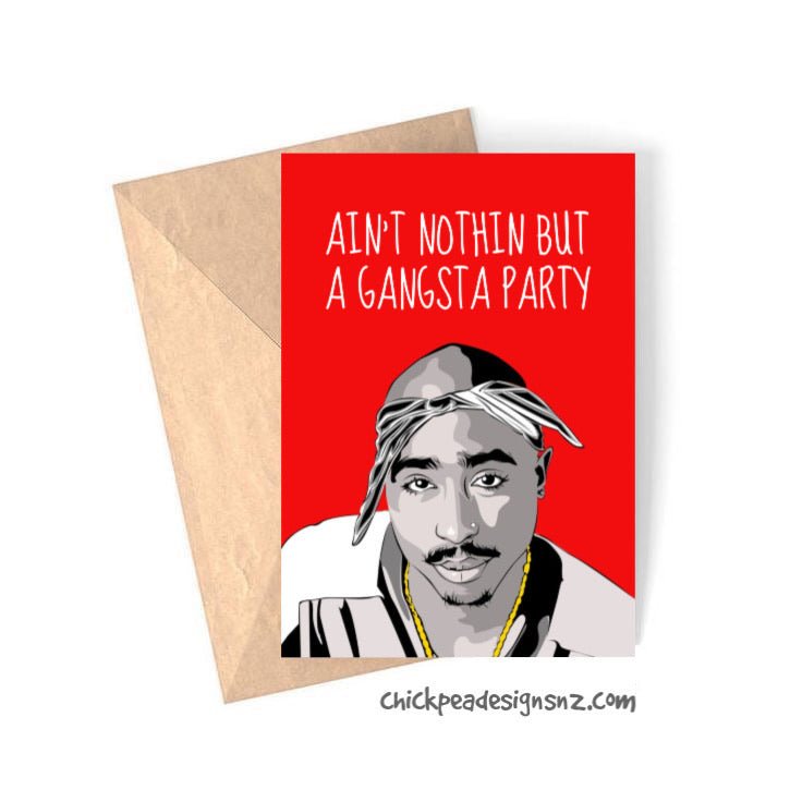 Tupac Birthday Card
