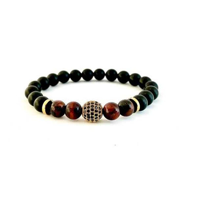 The Determination Red Tiger Eye Agate Pair Healing Bracelet