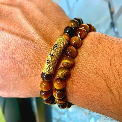 JWF™  Exclusive Premium Tiger Eye Stone Yoga Pair Bracelet