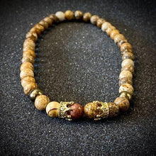 Load image into Gallery viewer, JWF ™ Exclusive Energised Picture Jasper Stone Bracelet For Health & Inner Stability