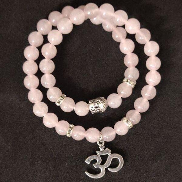 JWF™ Exclusive Stone Of Love Rose Quartz Double Fold Bracelet