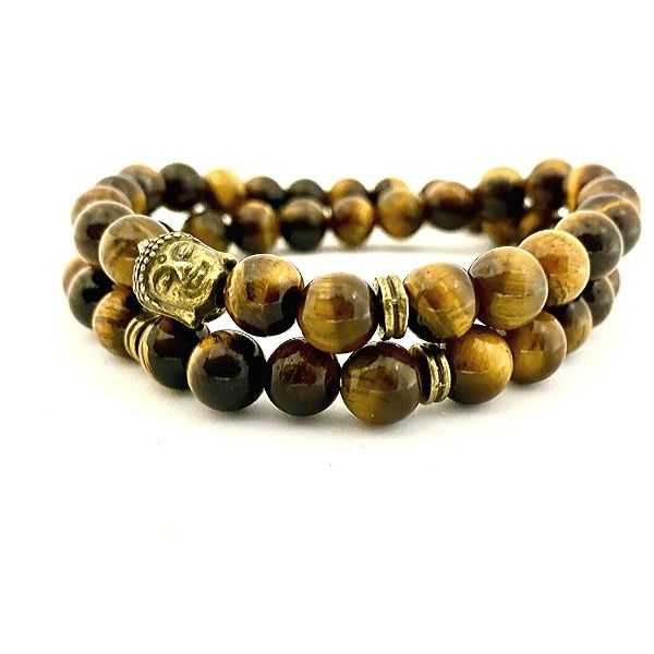 JWF™ Exclusive 100% Natural Tiger Eye Stones Double Wrap Bracelet