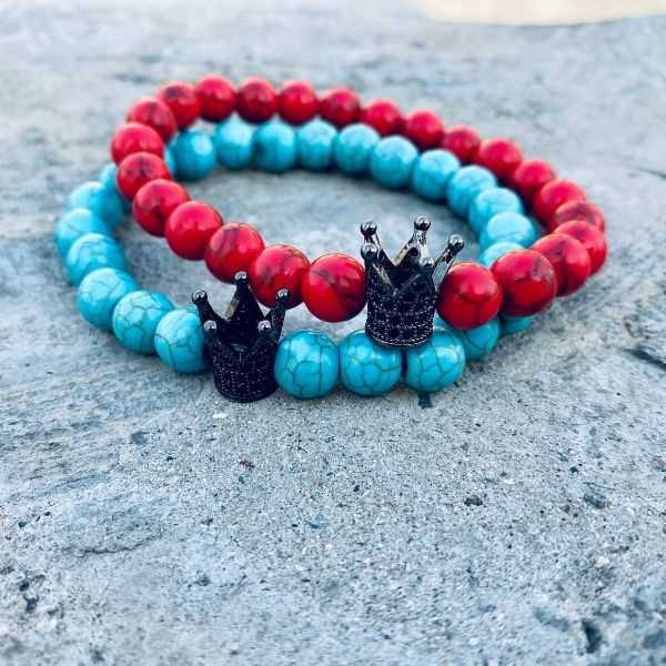 JWF™ Exclusive Crown Turquoise Crown Healing Bracelet