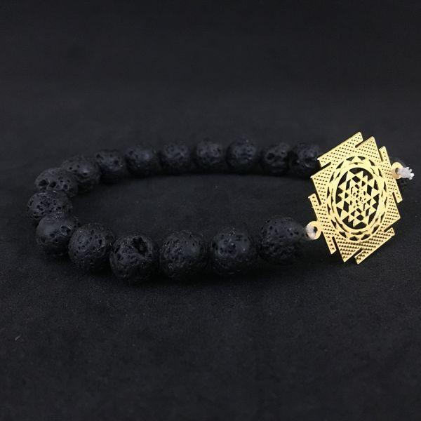 JWF™ 🕉  Pure & High Quality Sri Lakshmi Yantra Lava Bracelet For Business & Work